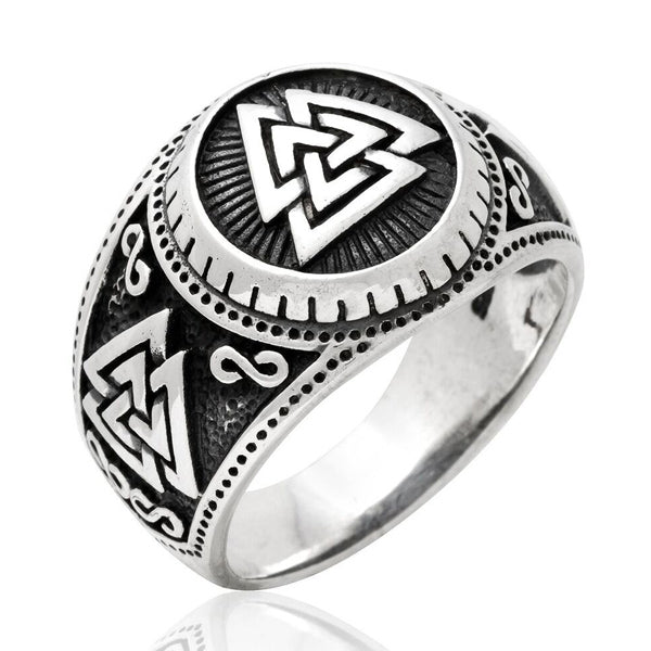 Valknut Ring - Sterling Silver