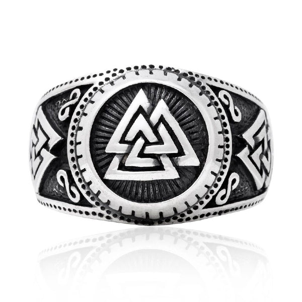 Valknut Ring - 925 Sterling Silver