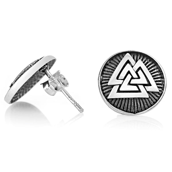 Valknut Stud Earrings