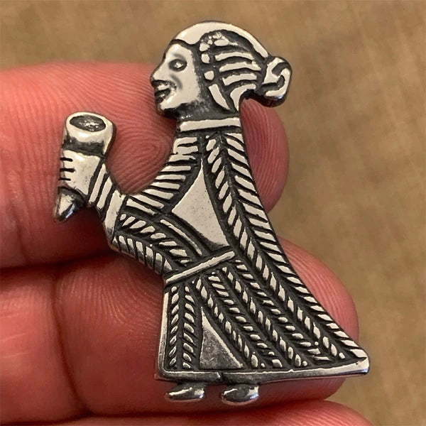 Valkyrie with Horn - Sterling Silver
