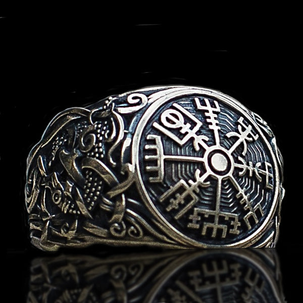 Vegvisir Ring - Sterling Silver or Gold
