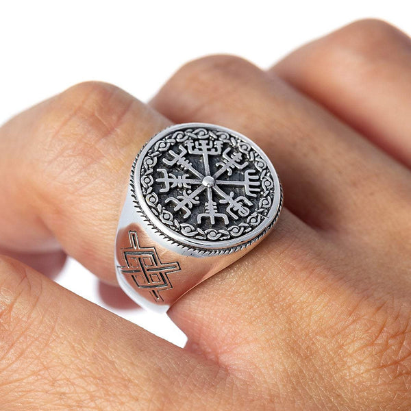 Vegvisir Ring - Sterling Silver