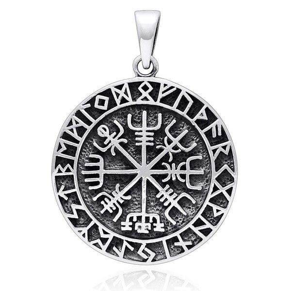 Viking Compass Pendant - Sterling Silver