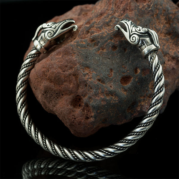 sterling silver viking arm ring