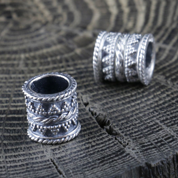 Viking Beard Bead - Sterling Silver