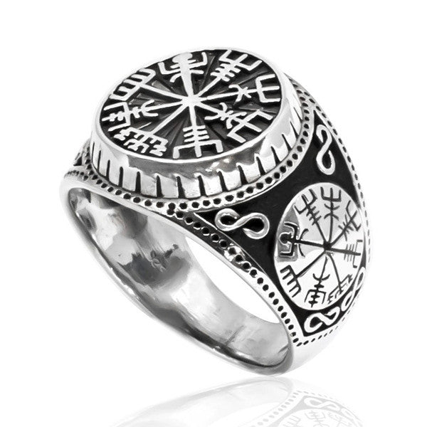 Viking Compass Ring - Sterling Silver