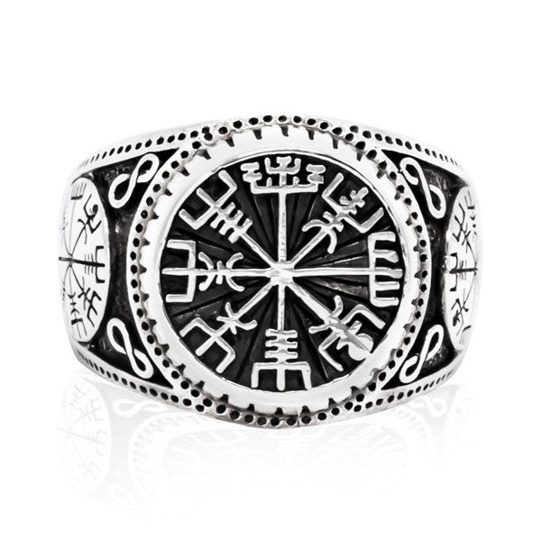 Viking Compass Ring - 925 Sterling Silver