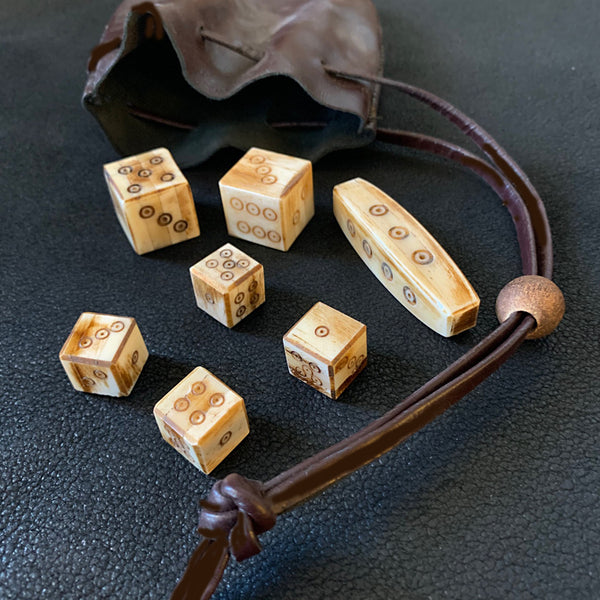 Viking Dice Game - Bone