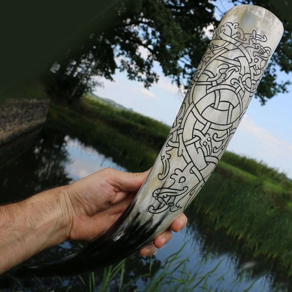 Viking Dragon Drinking Horn