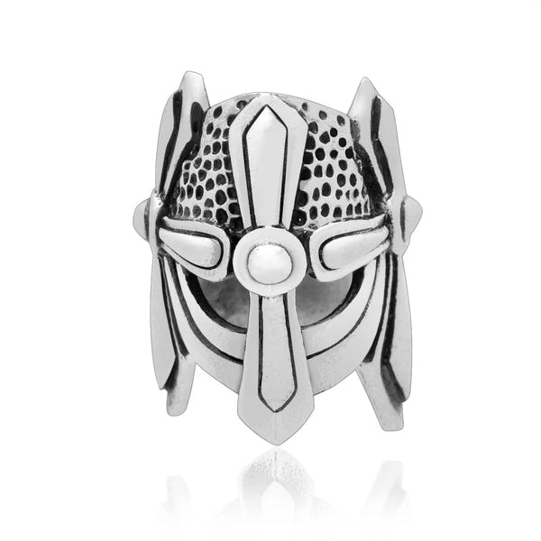 Helmet Beard Bead - Sterling Silver