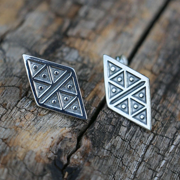 Viking Inspired Earrings - Sterling Silver