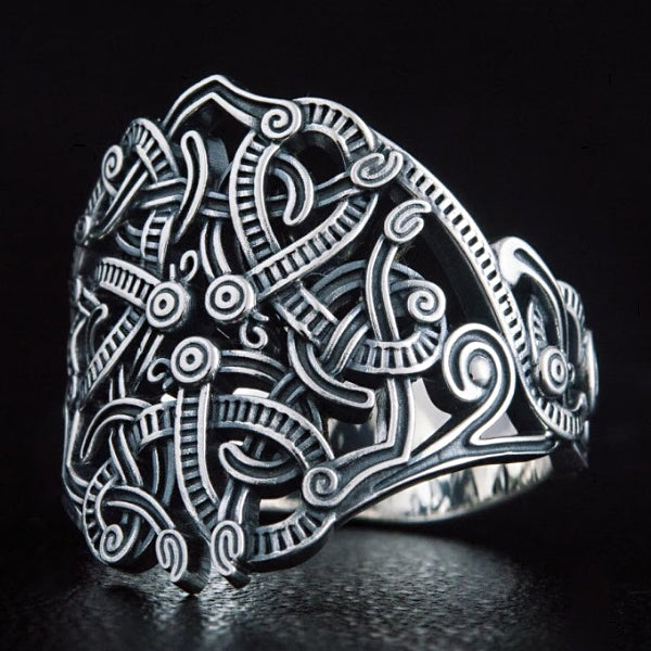 Viking Knotwork Ring - Sterling Silver or Gold