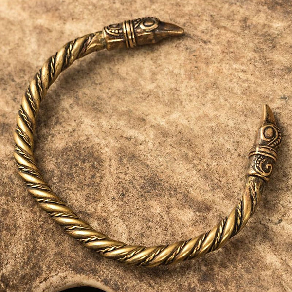 Brass Viking Raven Arm Ring
