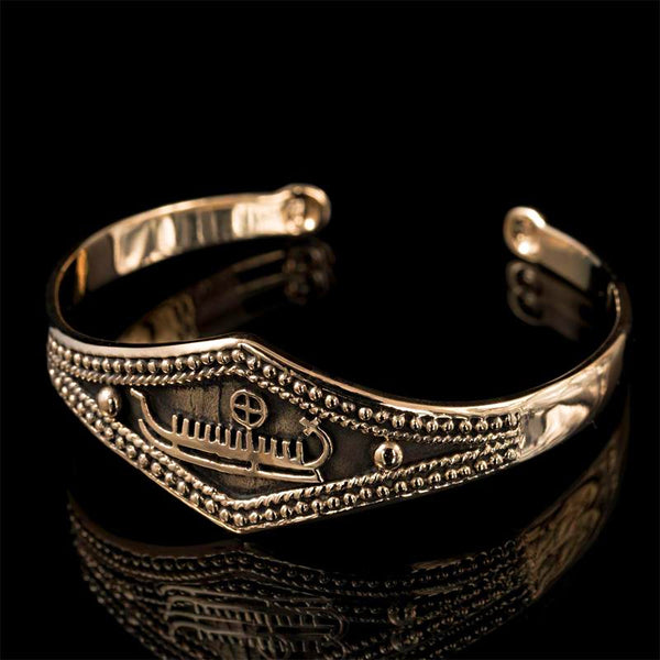 Viking Ship Bronze Bracelet