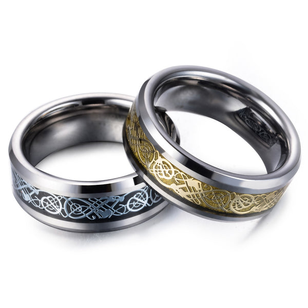 Viking Wedding Rings - Stainless Steel