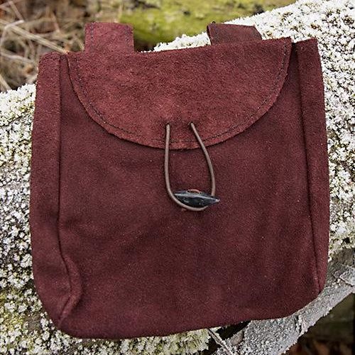 Wide Suede Leather Bag