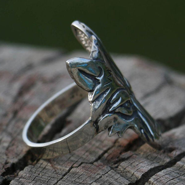 Wolf Ring - Sterling Silver