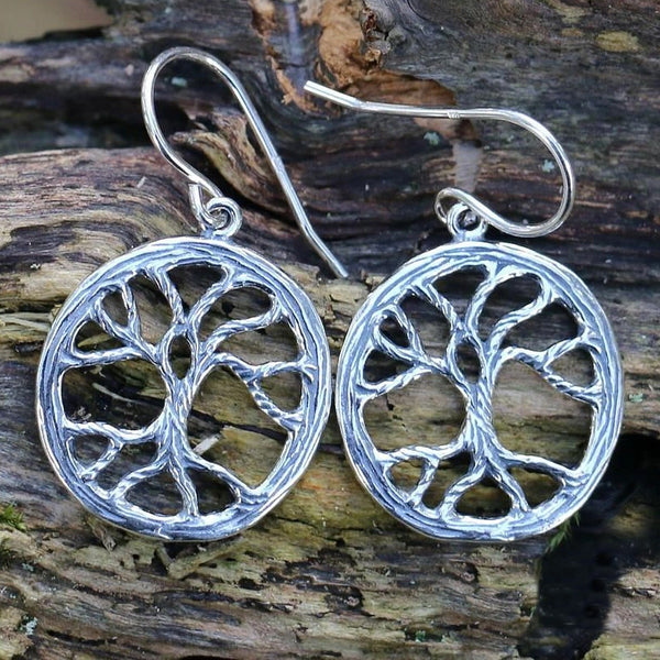 Yggdrasil Earrings - Sterling Silver