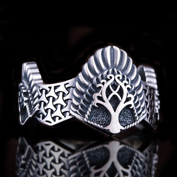 Yggdrasil Ring - Sterling Silver or Gold