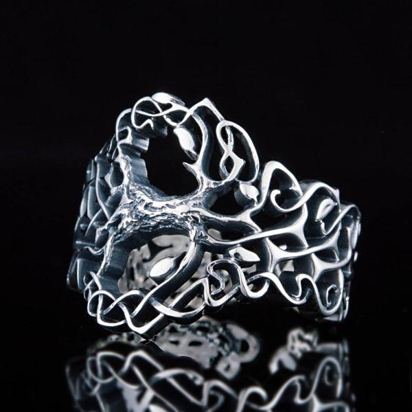 Yggdrasil Wrap Ring - Sterling Silver or Gold