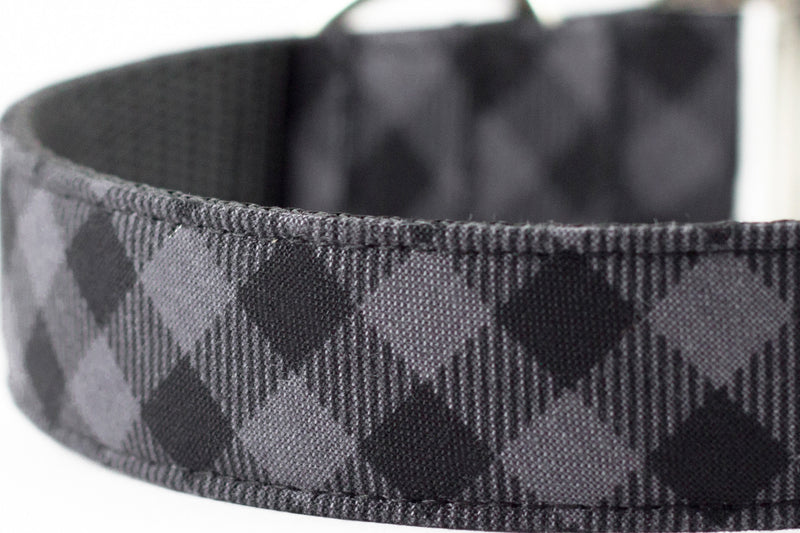 Charcoal Buffalo Plaid Leash