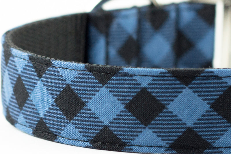 Blue Buffalo Plaid Bowtie Collar