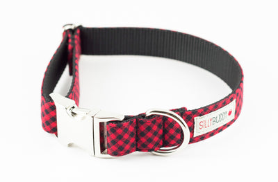 Red Buffalo Plaid Dog Collar