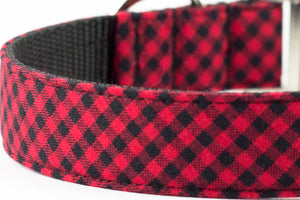 Red Mini Buffalo Plaid Leash