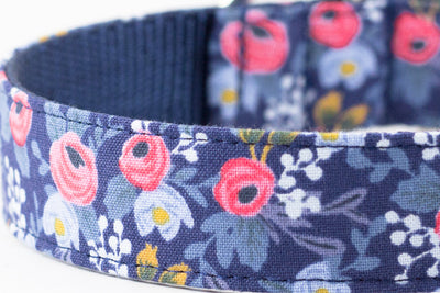 Rosa Floral Navy Leash