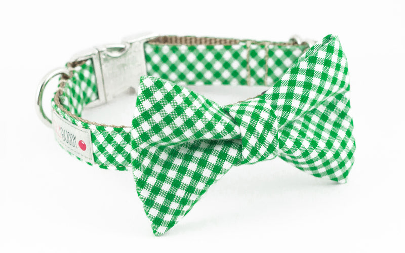 Green Gingham Bowtie