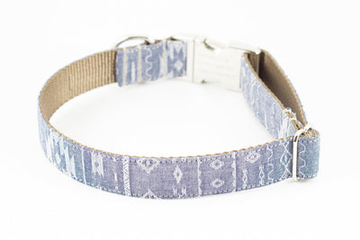 Navajo Chambray Dog Collar