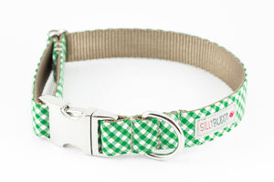 Green Gingham Bowtie Collar