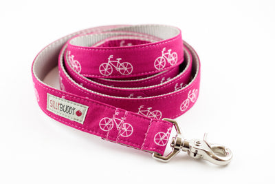 Pink Bicycle Dog Leash