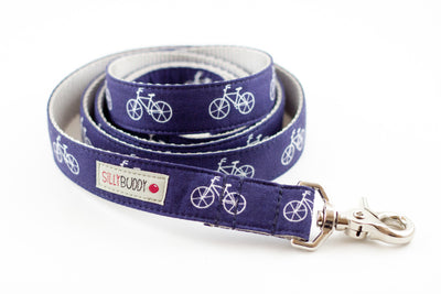 Navy Bicycle Dog Leash