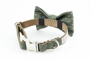 Chambray Olive Bowtie