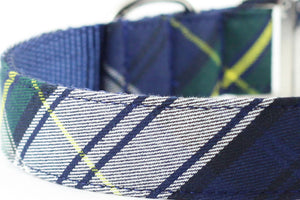 Navy Plaid Leash