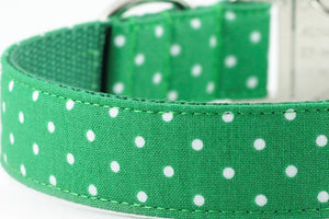 Green Dot Bowtie Collar