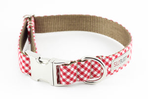 Red Gingham Flower Collar