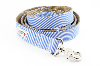 Blue Pinstripe Dog Leash