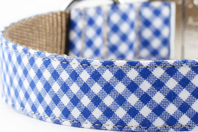 Royal Blue Gingham Leash