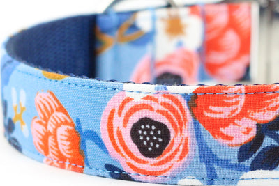 Birch Floral Periwinkle Leash
