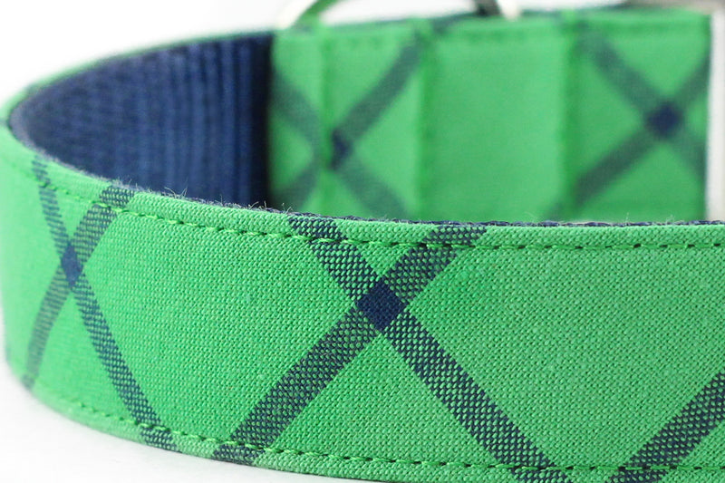 Green Minimal Plaid Leash