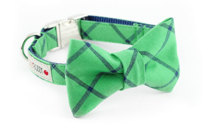 Green Plaid Bowtie