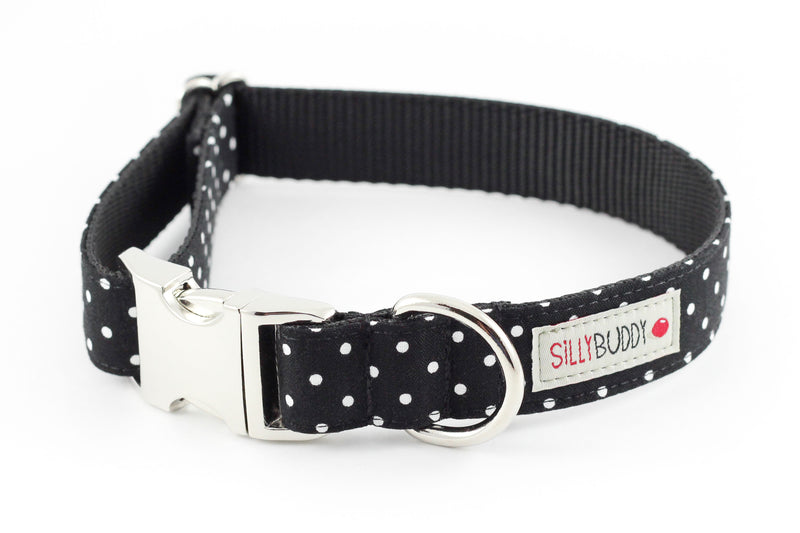 Black Polka Dot Dog Collar