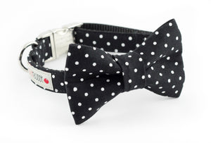 Black Polka Dot Bowtie