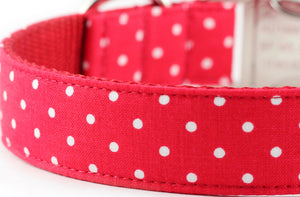 Red Dot Dog Collar