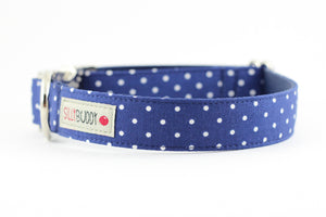 Navy Dot Bowtie Collar