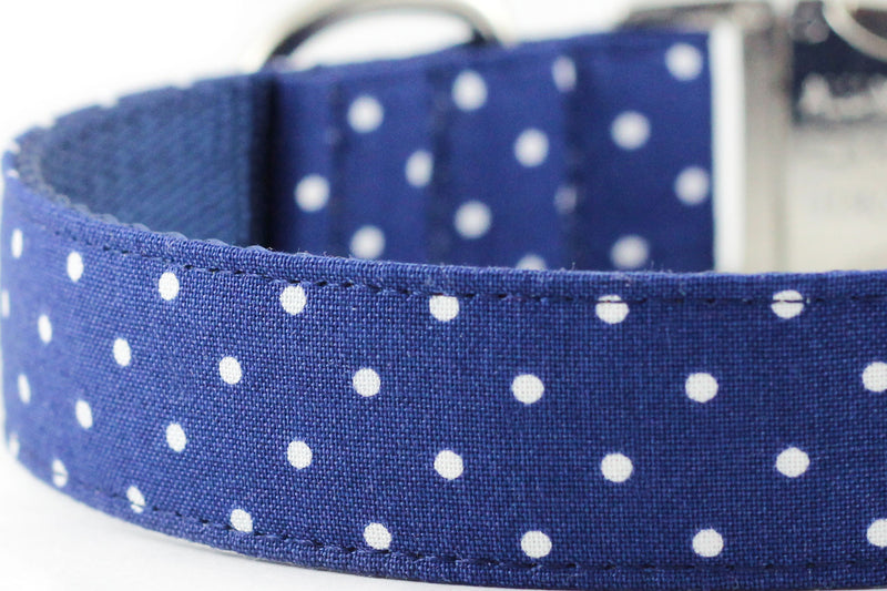 Navy Dot Leash