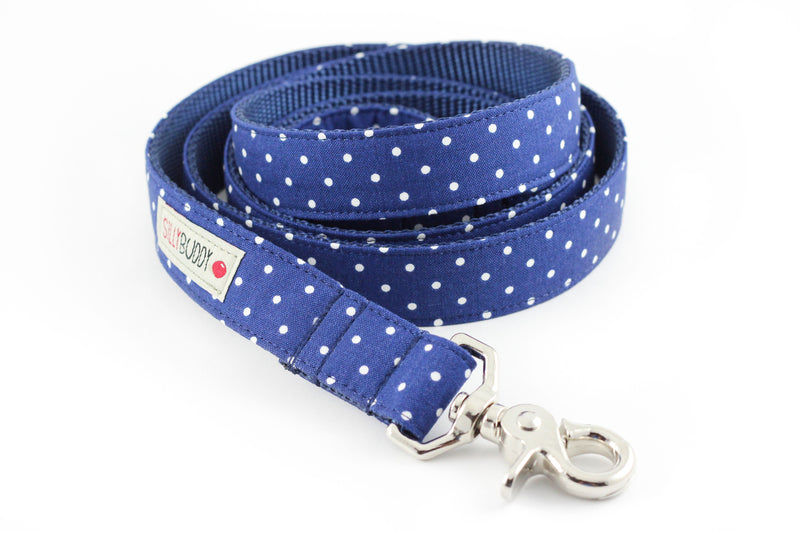 Navy Dot Dog Leash