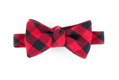 Red Buffalo Plaid Bowtie for Human